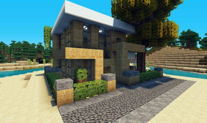 Small House Lets Build Lot Beach Town Project Minecraft