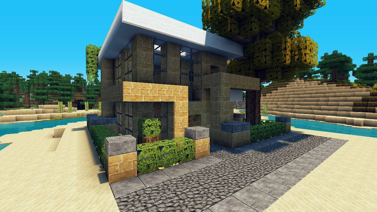 Small House Lets Build Lot Beach Town Project Minecraft House Plans 17145