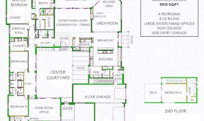 Small House Plans Courtyards Home Design