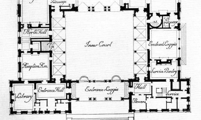 Small House Plans Interior Courtyard Home Deco