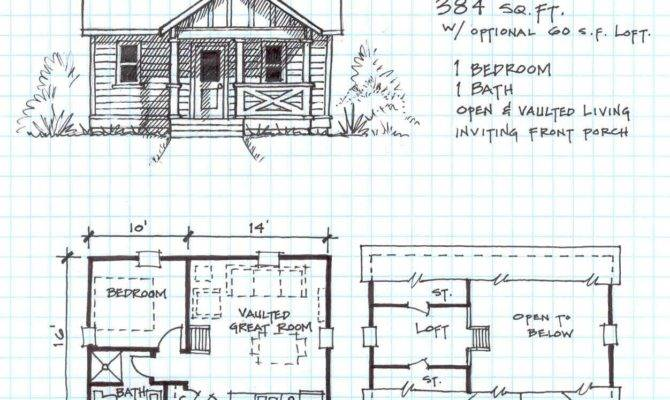 Small House Plans Loft Cabin Beach Floor