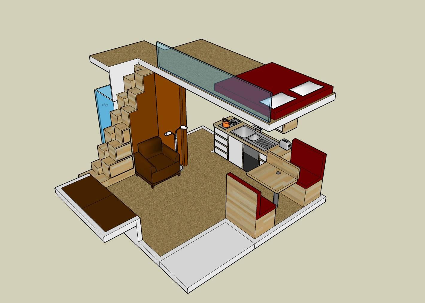 Small House Plans Loft House Plans 53373