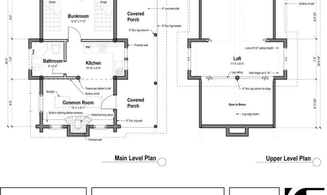 Small House Plans Log Cabin Floor