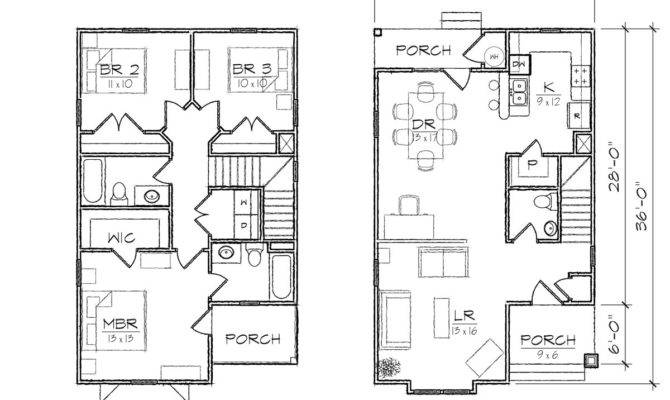 Small House Plans Narrow Lot Home Deco