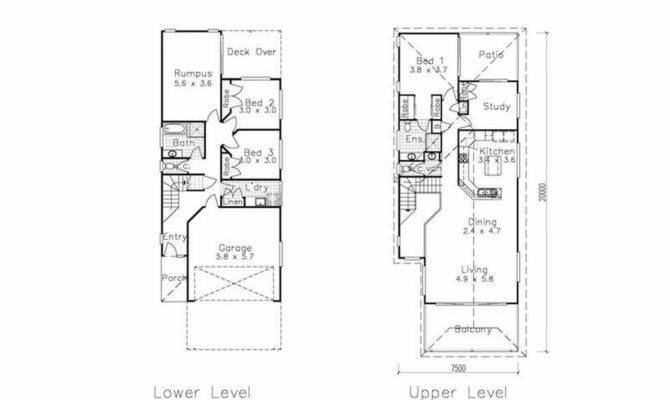 Small House Plans Narrow Lot Home Deco