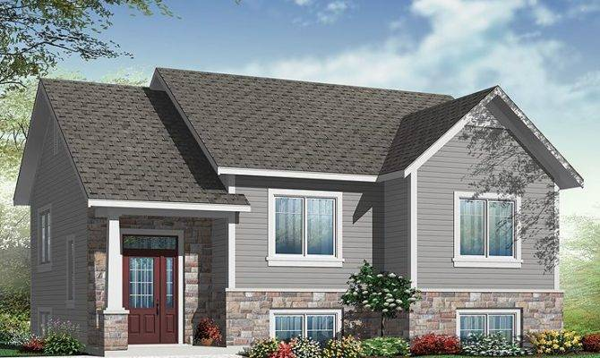 Small House Plans Split Level Home Plan Fits