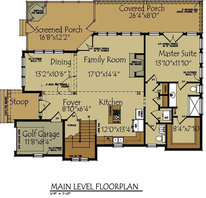 small lake cottage floor plan max fulbright designs