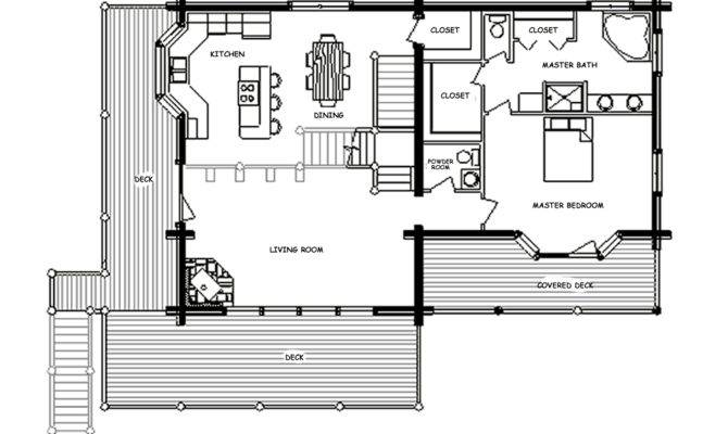 Small Log Cabin Homes Floor Plans