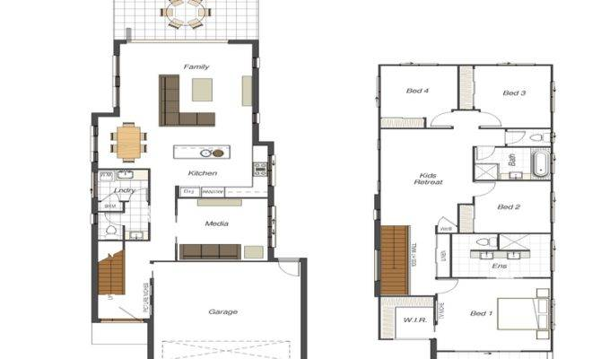 Small Lot House Plans Narrow Floor