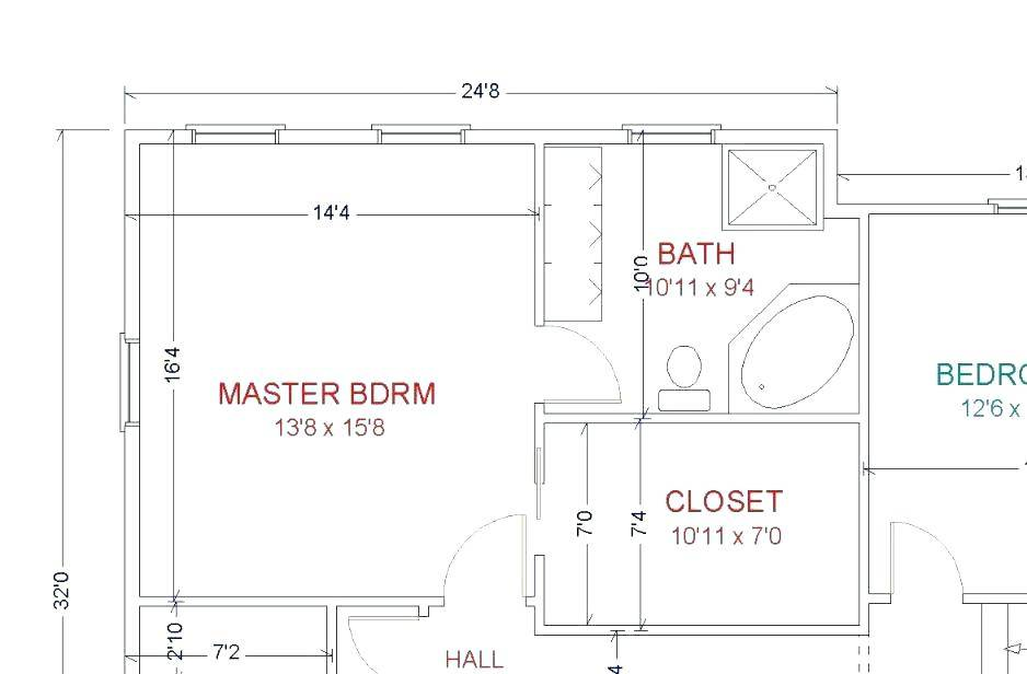 Small Master Bathroom Layout Floor Plans House Plans 134642