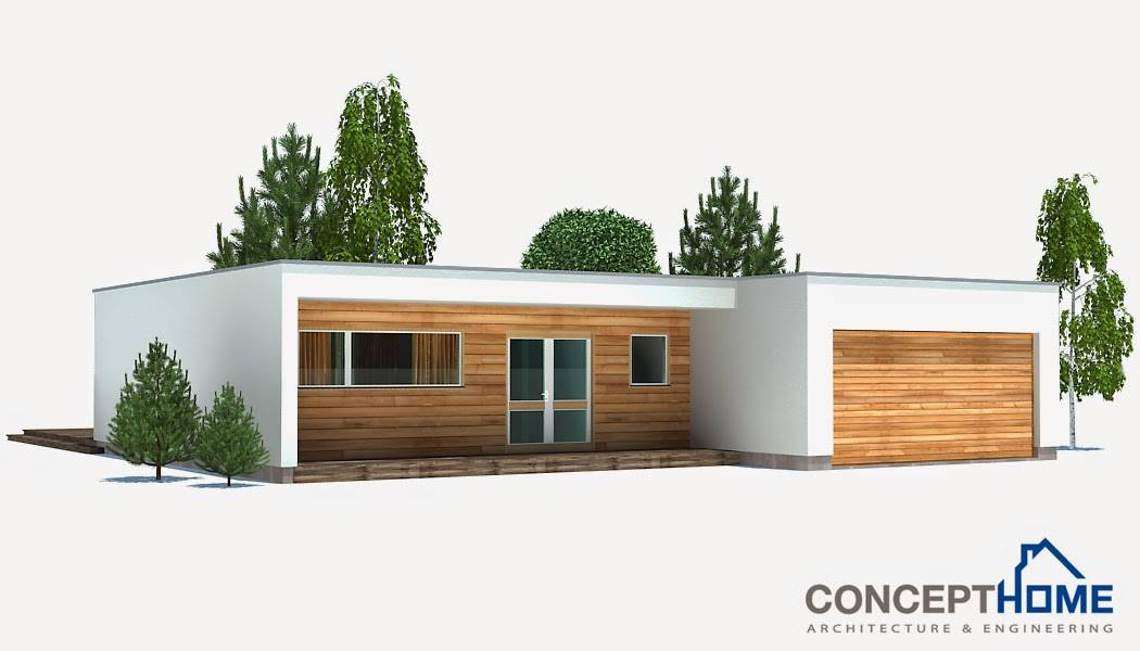 Small Modern Beach House Plan Plans - House Plans | #67259