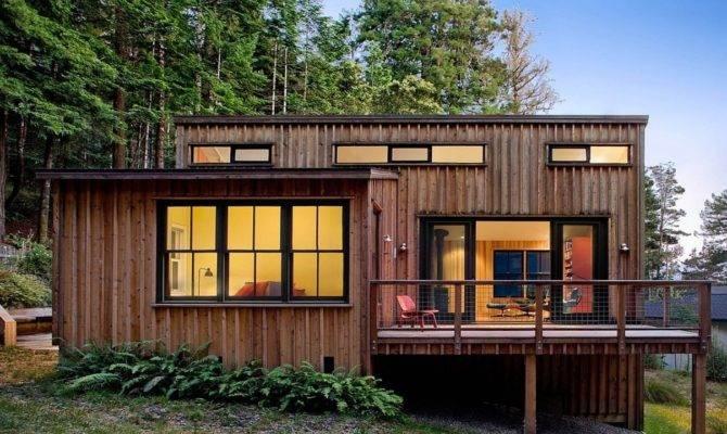 Small Modern Cabin House Plan Prefab Cabins