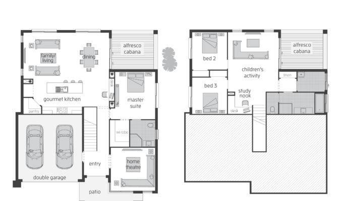 Small Modern Split Level House Plans Homes Zone Striking
