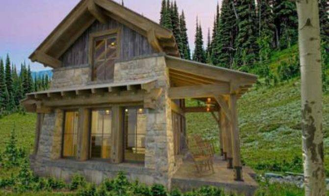Small Mountain Cottage Plans Homes Floor