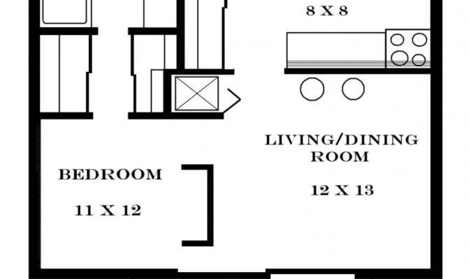 Small One Bedroom Apartment Floor Plans Apartments