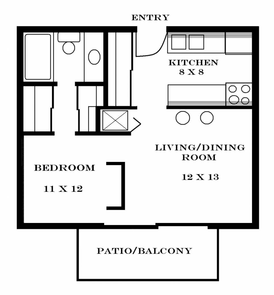 Small One Bedroom Apartment Floor Plans Apartments - House ...