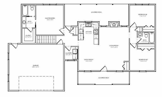 Small Ranch House Plan Floorplan