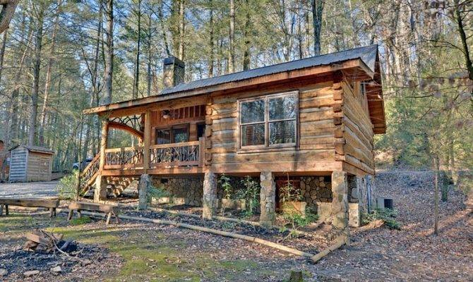 Small Rustic Log Cabin Plans House