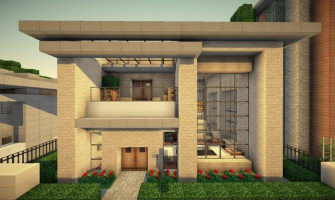 Small Simple Modern House Wok Server Minecraft Project House Plans 151749