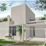 Small Single Storied House Modern Contemporary Style