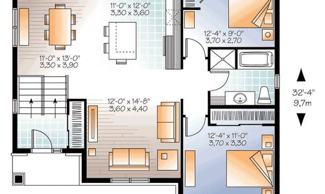 Small Split Level Home Plan Architectural