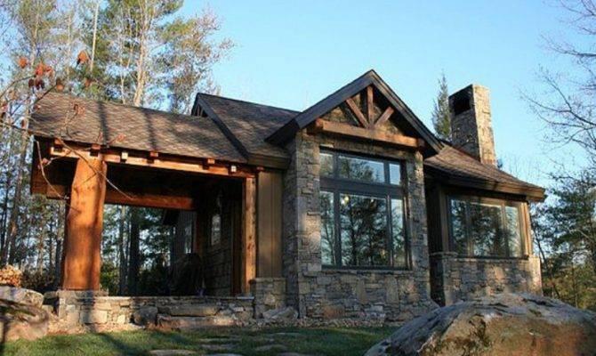 Small Stone Cabin Plans House Mountain Log Floor Kits