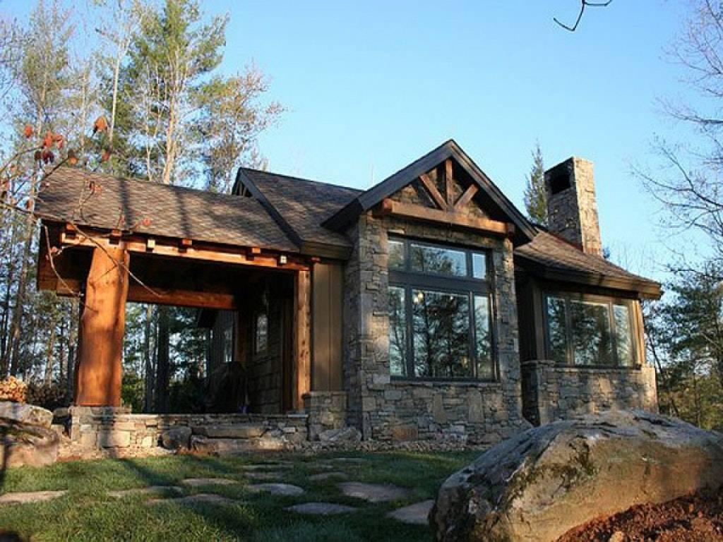 Small Stone Cabin Plans House Mountain Log Floor Kits ...