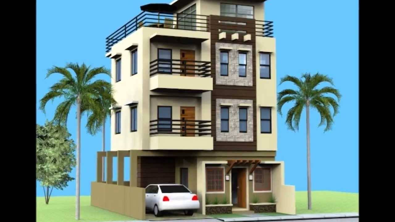 Small Storey House Roofdeck Youtube House Plans 89632