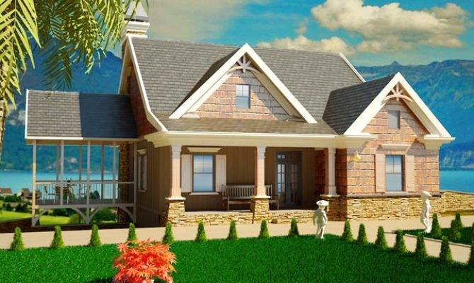 Small Story Bedroom Southern Cottage Style House Plan