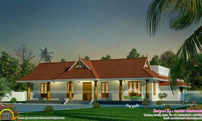 Small Traditional Nallukettu House Kerala Home Design