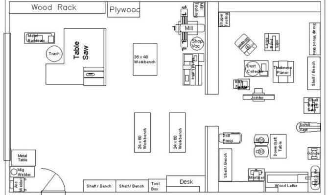 Small Woodworking Shop Layout Plans House Plans 70393