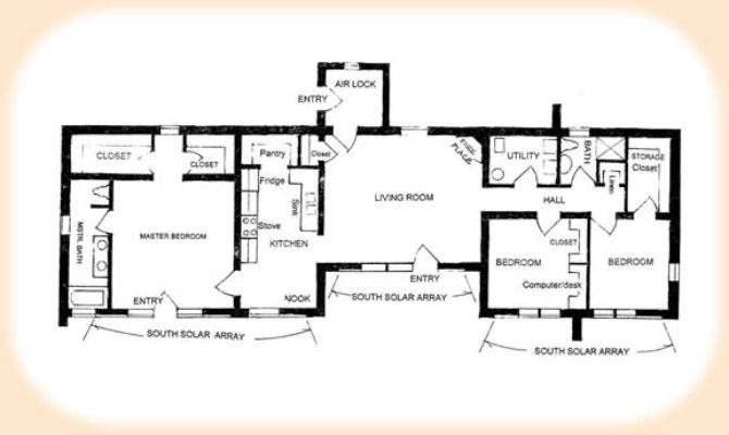 Solar Adobe House Plan