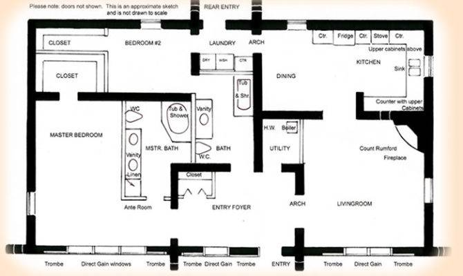 Solar House Plan Affordable Rammed Earth Plans