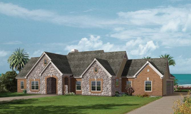 Solarium One Story Home Plan House Plans More