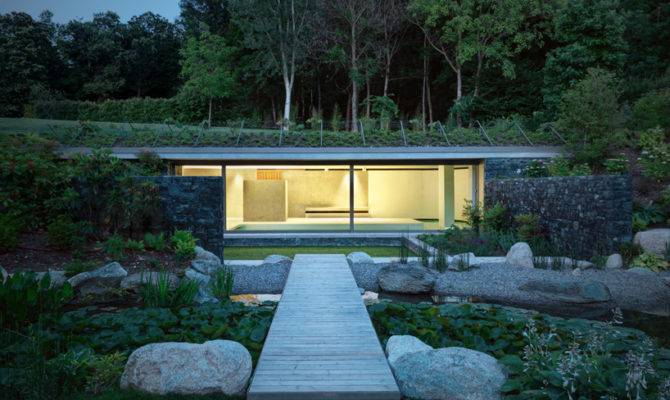Sort Subterranean Partially Underground Modern Home