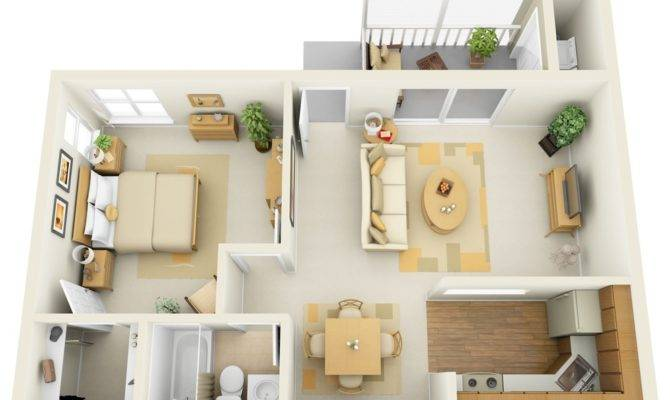 Source Incore Residential One Bedroom Floor Plan Shows Off