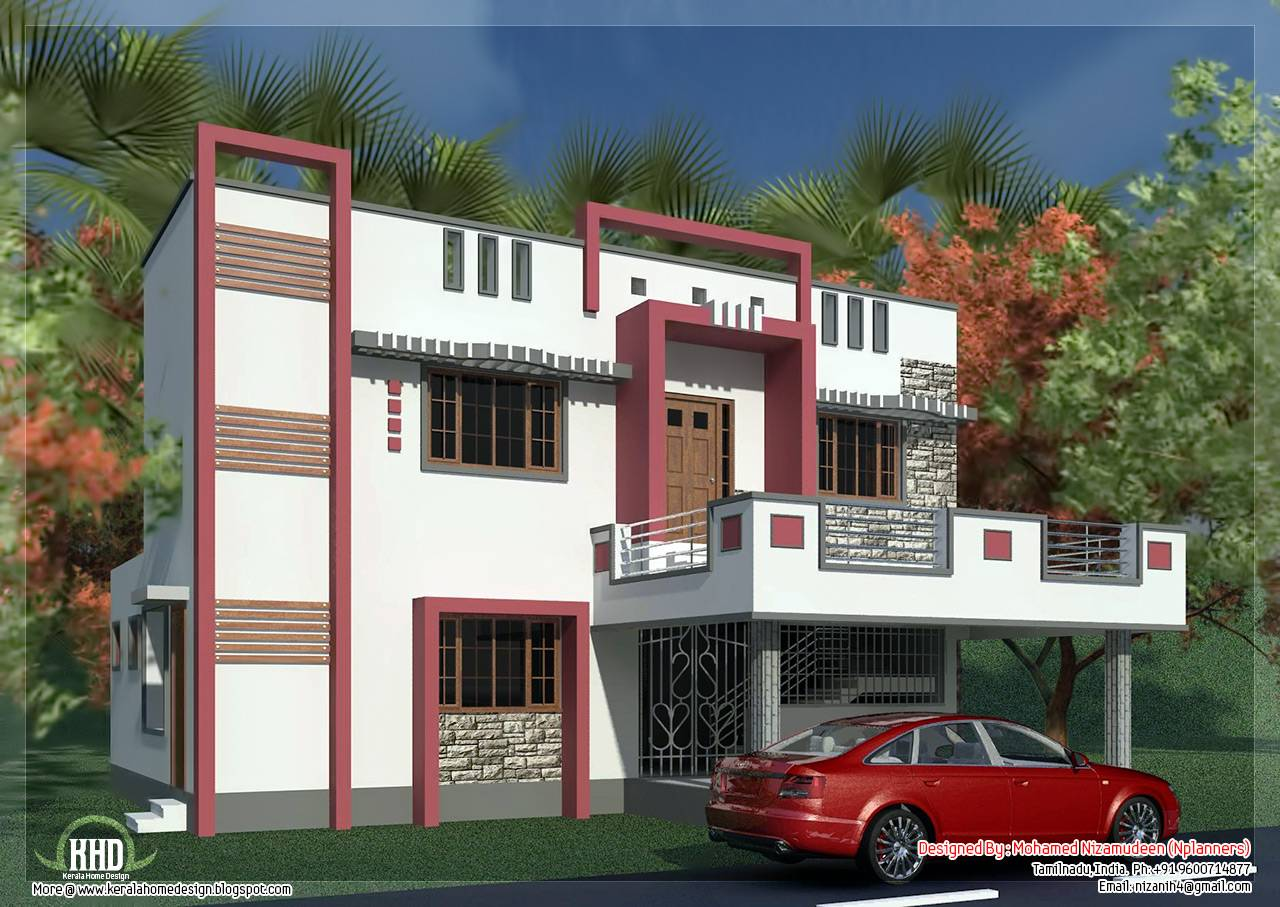 South Indian Model Minimalist House Exterior House Plans 88691