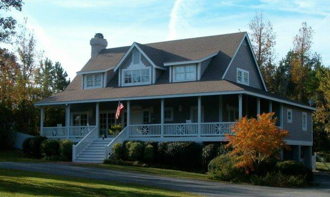 Southern Cottages House Plans Pleasent Outdoor Living Wrap