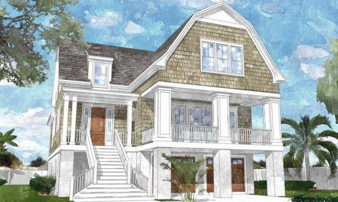 Southern House Plans Living Coastal Plan Cottage Style