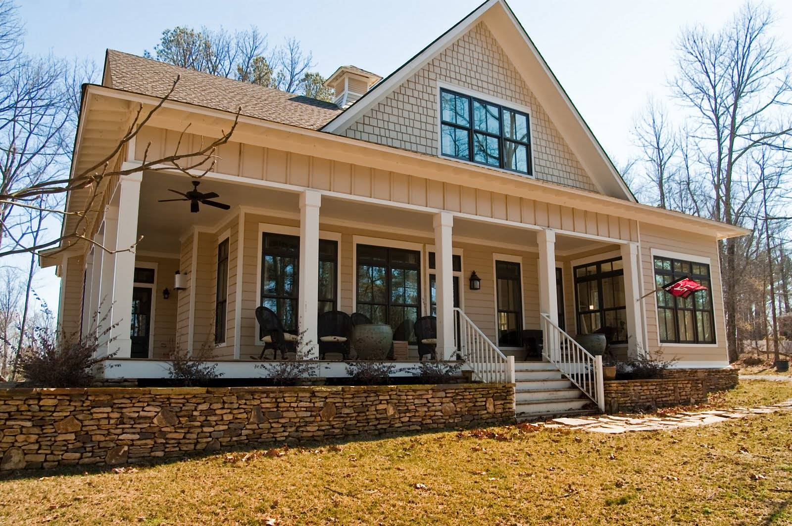Southern House Plans Wrap Around Porch Cottage - House Plans   #15777