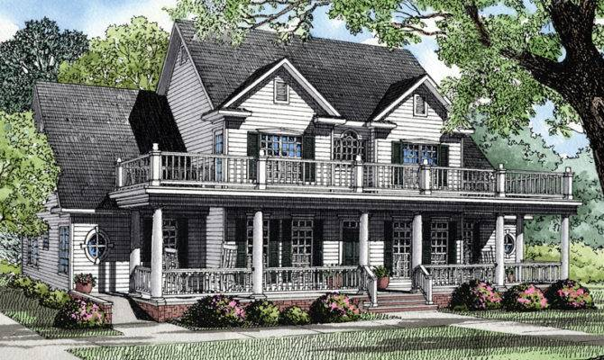 Southern Plantation Style Achieved Two Levels Outdoor