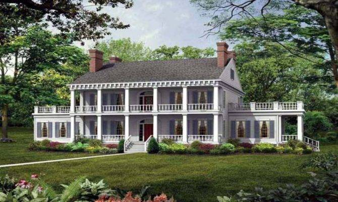 Southern Plantation Style House Plans Antebellum