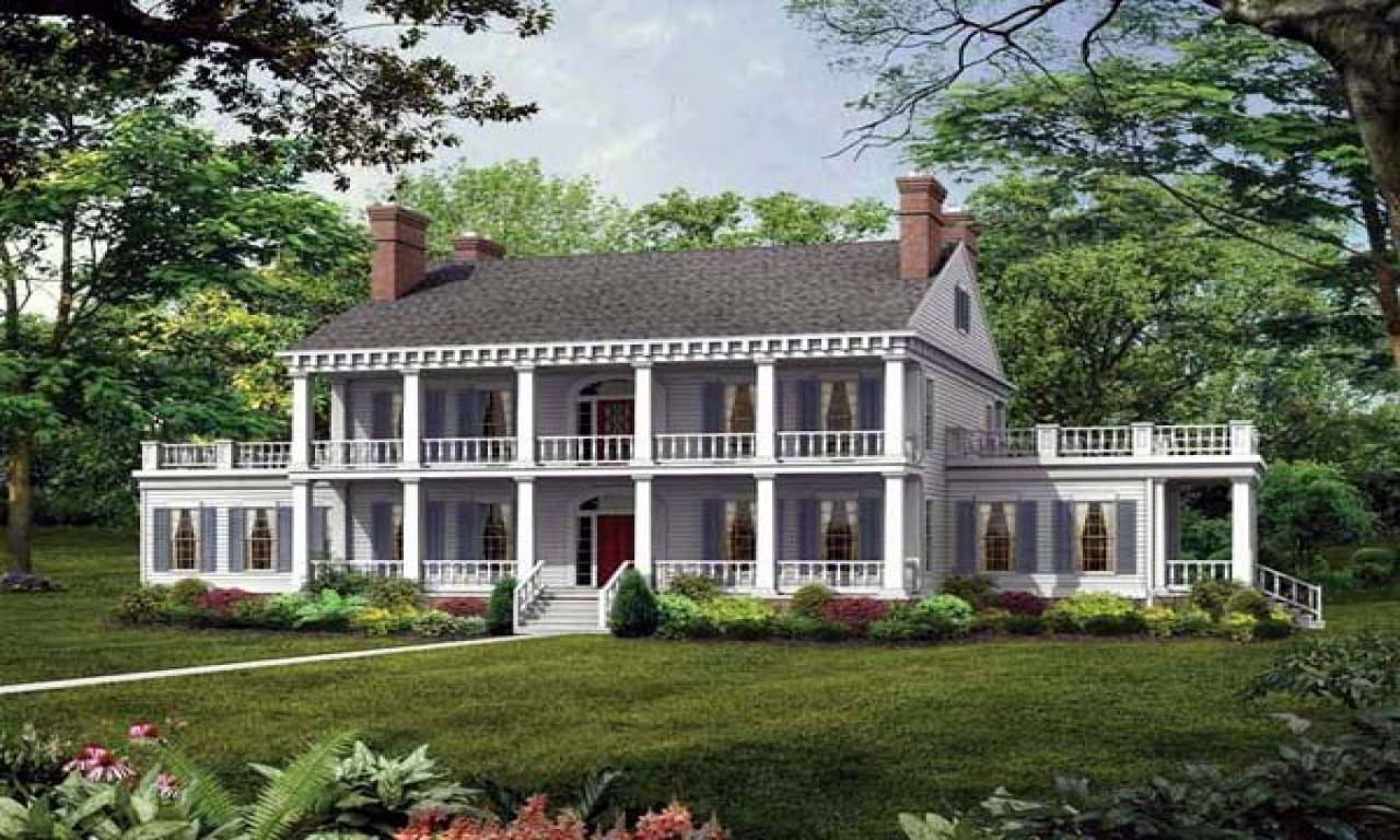 Southern Plantation Style House Plans Antebellum - House ...