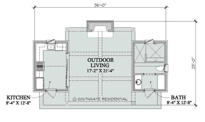 Southgate Residential Poolhouse Plans
