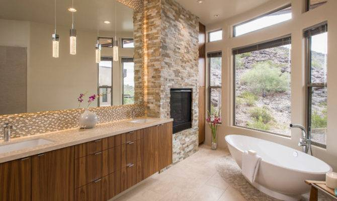 Southwestern Mosaic Tile Curved Wall Home Design Photos