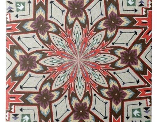 Southwestern Pueblo Weaving Influence Tile Zazzle