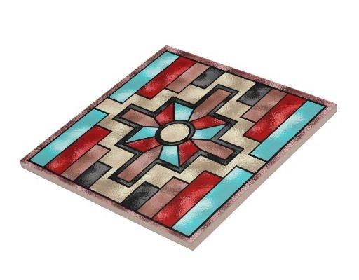 Southwestern Style Ceramic Tile Zazzle