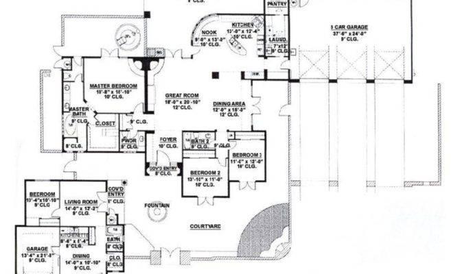 Southwestern Style House Plan Beds Baths