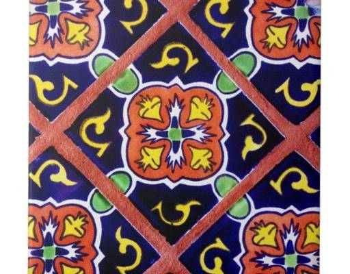 Southwestern Tile Cobalt Blue Orange Yellow