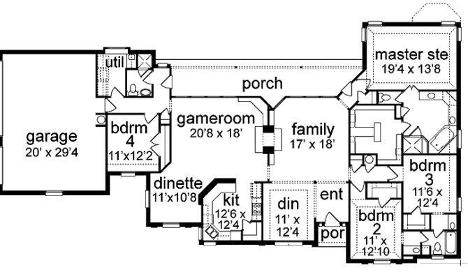 Space Efficient New American Home Hwbdo House